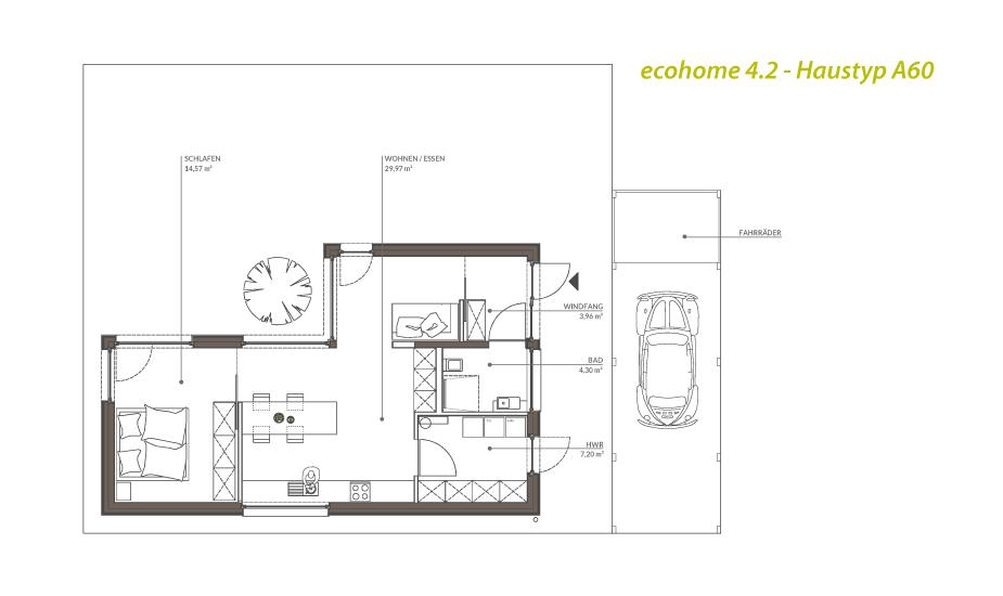 Singlehaus Typ A60