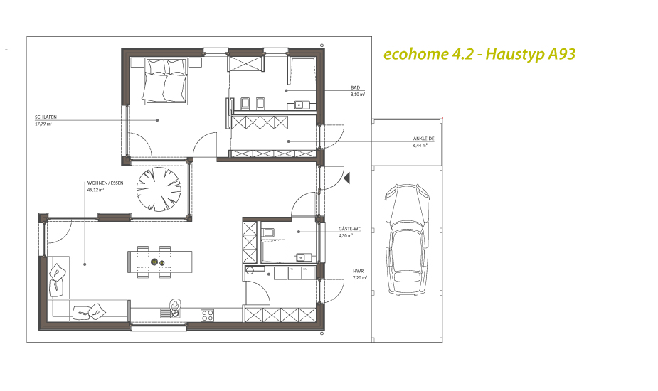 singlehaus typ  atriumbungalow